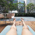 Chilling at Sofitel Singapore City Centre Hotel Poolside