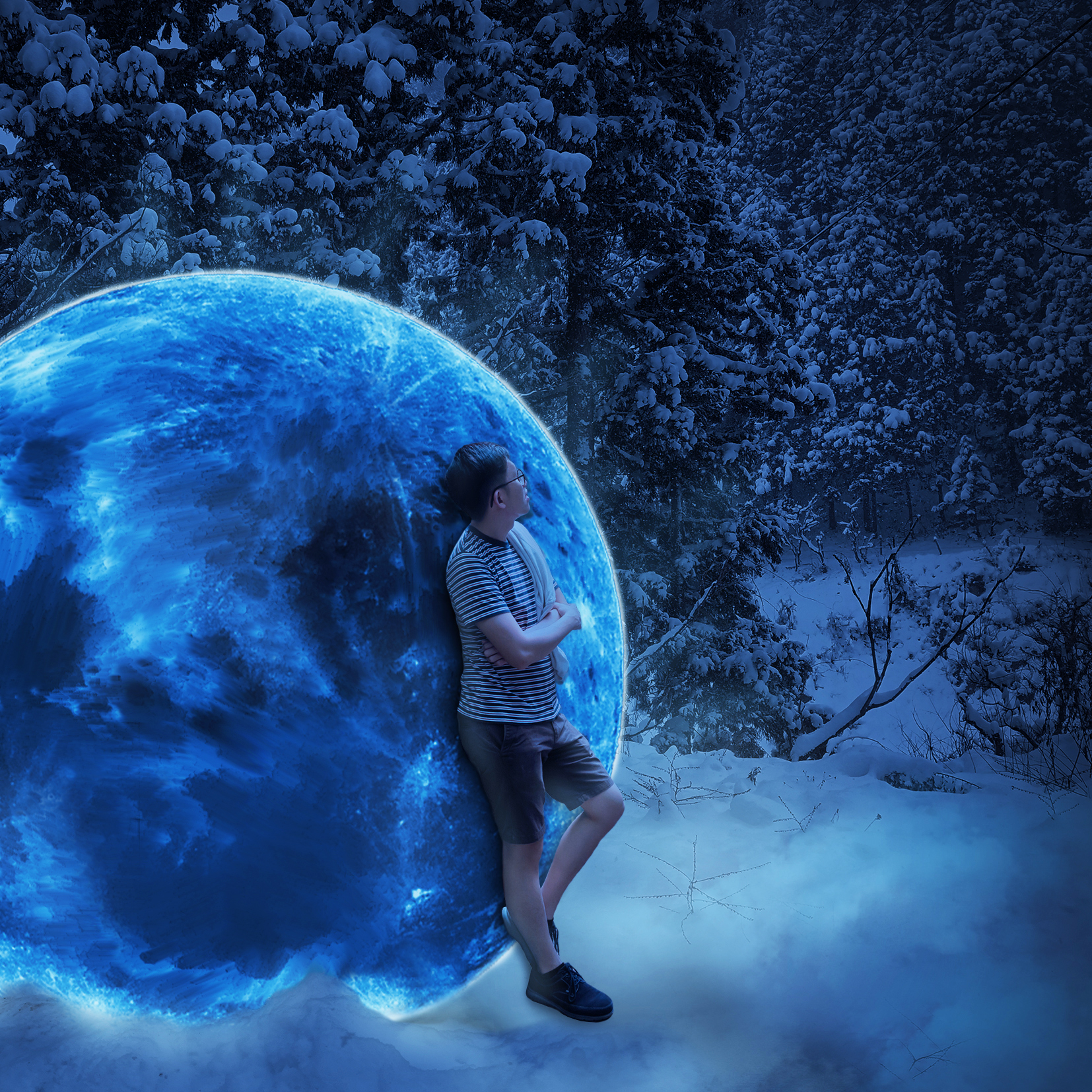 Moon Shine Digital Art by Alvin Sim