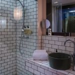 German French inspired design of 25hours Hotel Das Tour toilet.