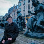 Outside of Musée d'Orsay, Paris with the statues