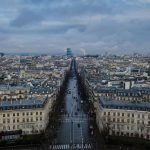 Cityscape view from the top of Arc de Triomphe