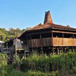 Buildings at Sarawak Cultural Village Kuching, Malaysia