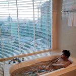 Pullman Kuching Hotel Room Toilet Bathtub